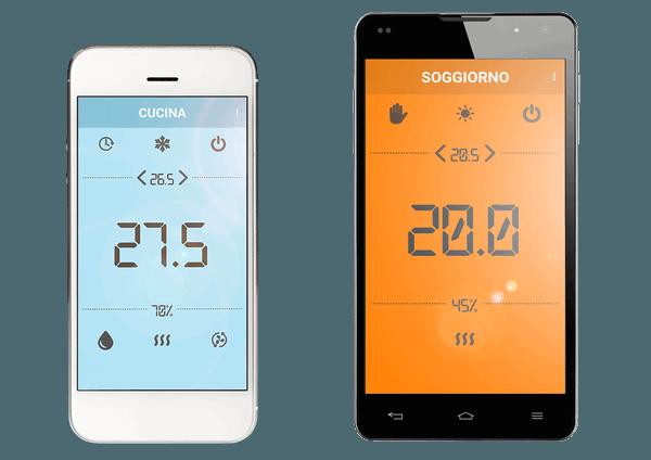 Termostato smartphone Androi e Ios - Termoregolazione remota casa