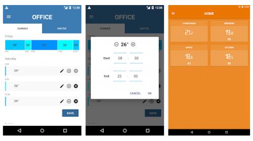 Multizone thermostat - Remote control via Androi smartphone