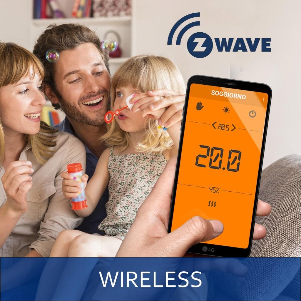 Sistemi di termoregolazione smart wireless - Impianti termici wireless