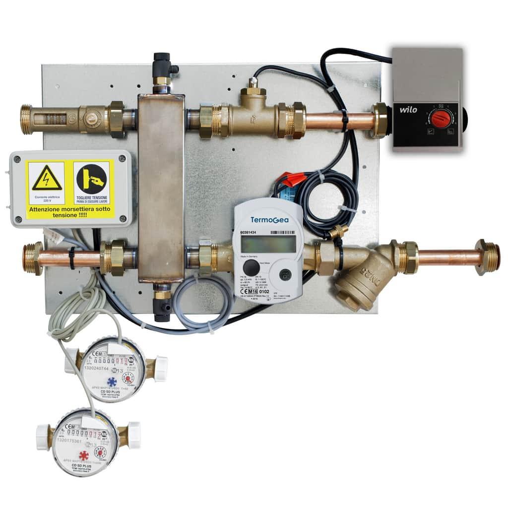Compensator module water and energy meters