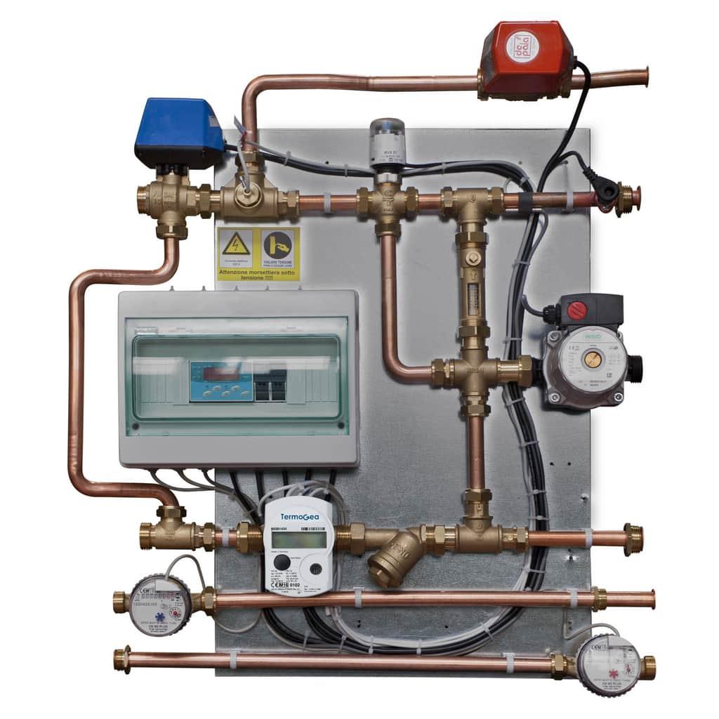 Double satellite module water and energy meters