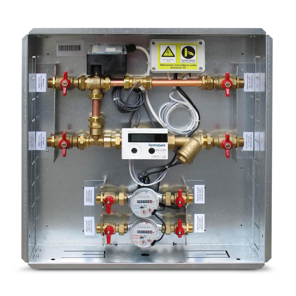 Modulo satellite micro completo per la termoregolazione e contabilizzazione dell'energia