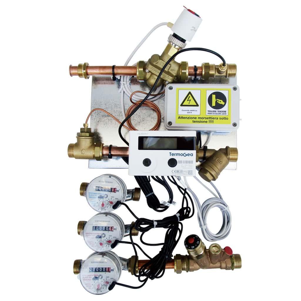 Press module water and energy meters
