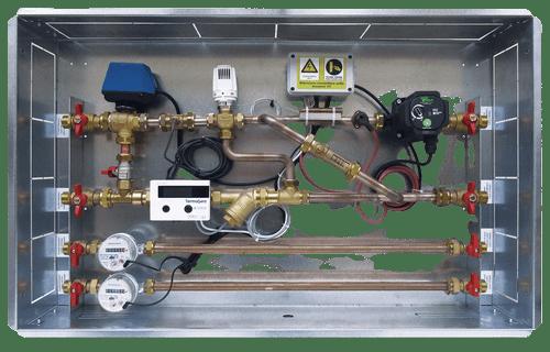 Satellite modules for energy metering.