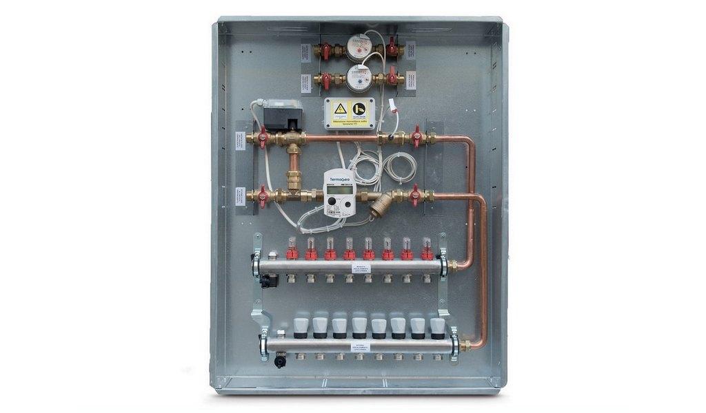 Moduli satellite Collettori con regolatore elettronico o a punto fisso termostatico